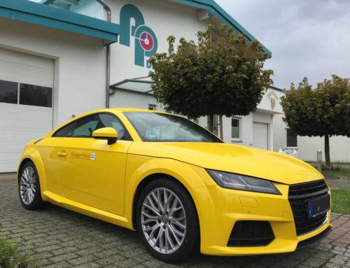 Vollfolierung Audi TT Gelb